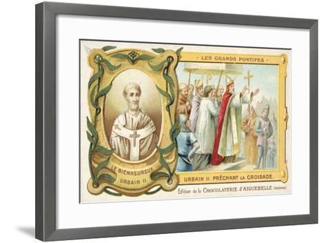 Pope Urban II Preaching the First Crusade, 1095--Framed Art Print