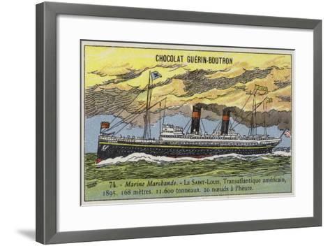 SS St Louis, American Transatlantic Liner, 1895--Framed Art Print
