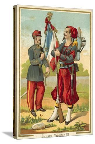 French Zouaves of the Time of Napoleon Iii--Stretched Canvas Print