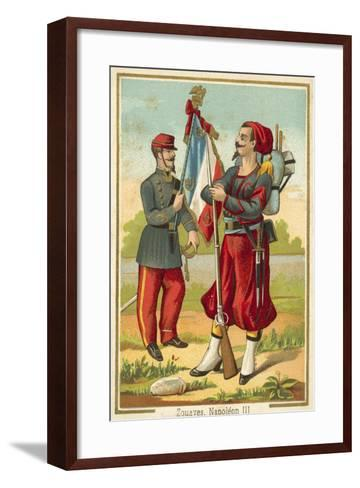French Zouaves of the Time of Napoleon Iii--Framed Art Print