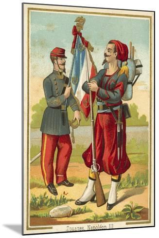 French Zouaves of the Time of Napoleon Iii--Mounted Giclee Print