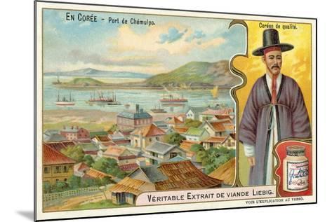 Port of Jemulpo, Korea--Mounted Giclee Print