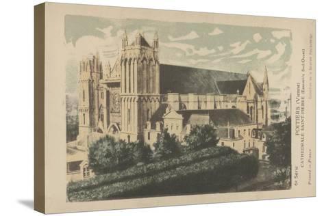 Poitiers, Vienne, Cathedrale Saint-Pierre--Stretched Canvas Print