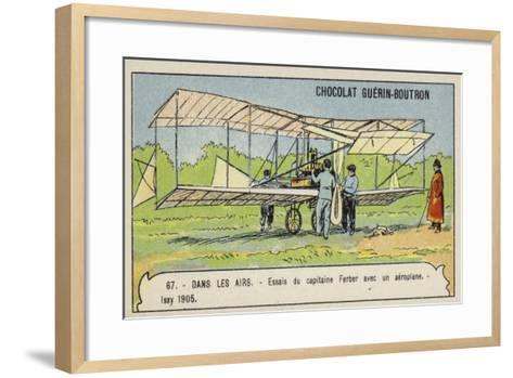 Captain Ferber Carrying Out Trials of an Aeroplane, Issy, France, 1905--Framed Art Print