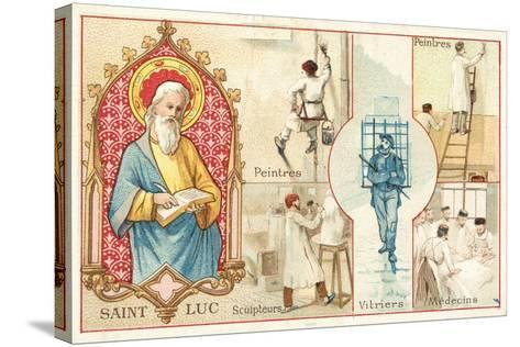 St Luke, Patron Saint of Artists and Doctors--Stretched Canvas Print