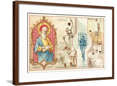 St Luke, Patron Saint of Artists and Doctors--Framed Art Print