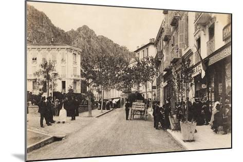 Cafe and Tabac, Beaulieu Sur Mer, 1911--Mounted Giclee Print