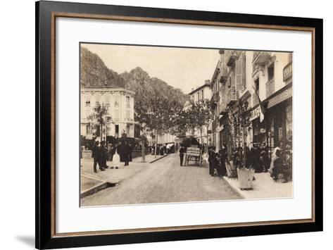 Cafe and Tabac, Beaulieu Sur Mer, 1911--Framed Art Print