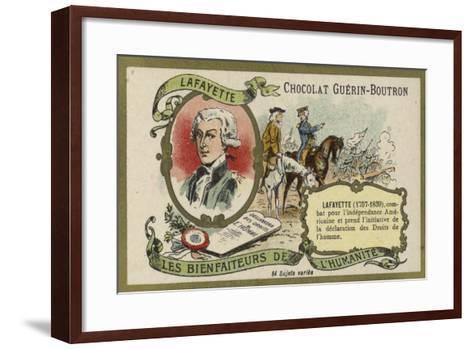 Gilbert Du Motier, Marquis De Lafayette, French Soldier--Framed Art Print