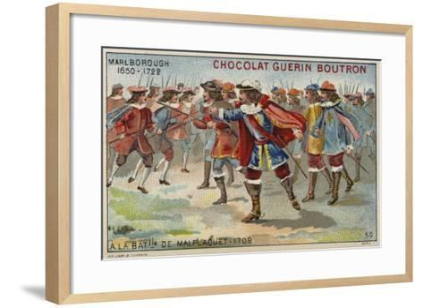 The Duke of Marlborough at the Battle of Malplaquet--Framed Art Print
