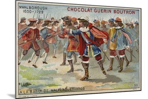 The Duke of Marlborough at the Battle of Malplaquet--Mounted Giclee Print