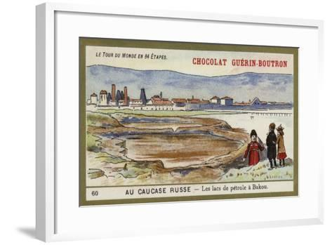 In the Russian Caucasus - the Oil Lakes of Baku--Framed Art Print