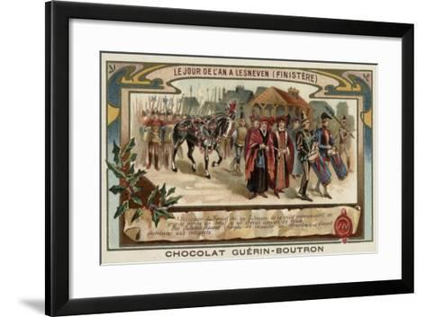 New Year's Day at Lesneven, Finistere, Brittany--Framed Art Print