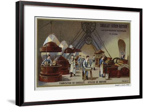 Chocolate Manufacturing, Grinding Workshop--Framed Art Print