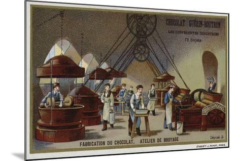 Chocolate Manufacturing, Grinding Workshop--Mounted Giclee Print