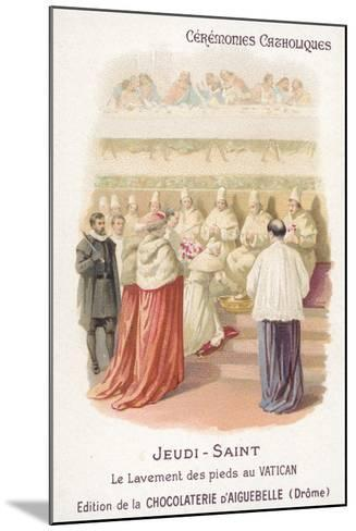 Washing of the Feet in the Vatican, Maundy Thursday--Mounted Giclee Print