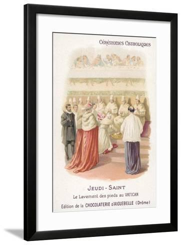 Washing of the Feet in the Vatican, Maundy Thursday--Framed Art Print
