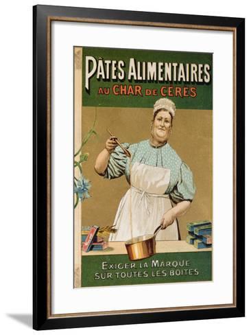 Advertisement for 'Au Char De Ceres' Pasta, C.1900--Framed Art Print
