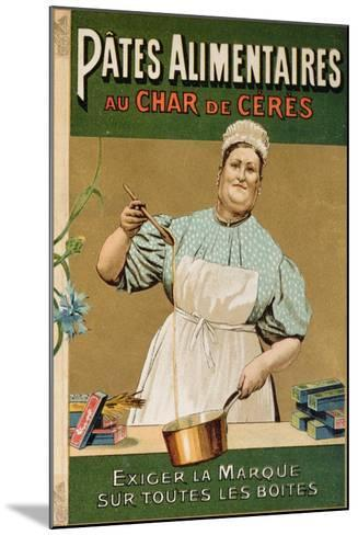 Advertisement for 'Au Char De Ceres' Pasta, C.1900--Mounted Giclee Print