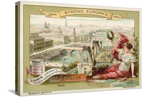 The Seine, Paris--Stretched Canvas Print
