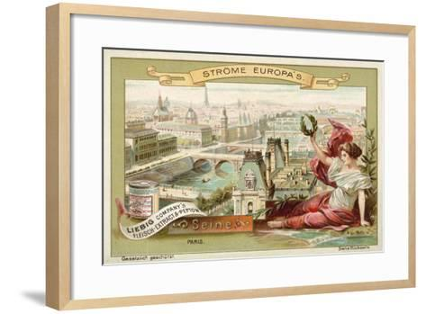 The Seine, Paris--Framed Art Print