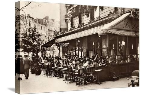 Brasserie Cafe Du Dome, Paris, 1920--Stretched Canvas Print