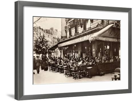 Brasserie Cafe Du Dome, Paris, 1920--Framed Art Print