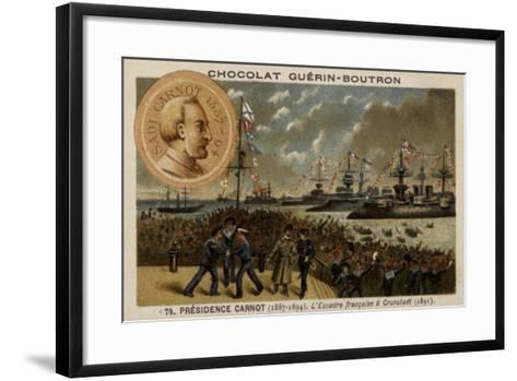 French Naval Squadron Visiting Kronstadt, Russia, 1891--Framed Art Print
