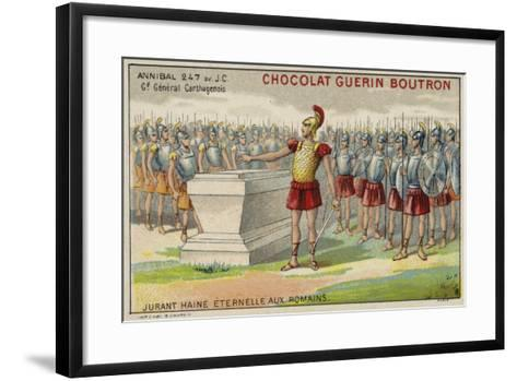 Hannibal Swearing Eternal Hatred of the Romans--Framed Art Print