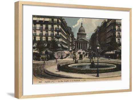 Paris, La Rue Soufflot, Le Pantheon--Framed Art Print