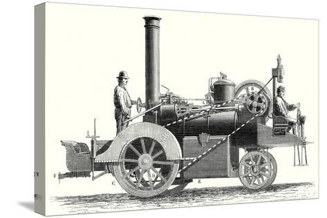 Traction Engine or Steam Car Invented by M. Lotz from Nantes--Stretched Canvas Print