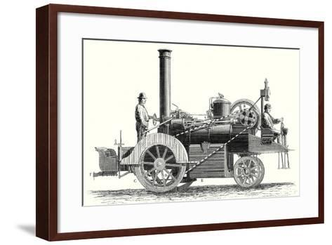 Traction Engine or Steam Car Invented by M. Lotz from Nantes--Framed Art Print