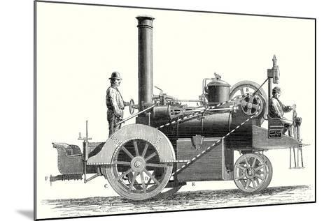 Traction Engine or Steam Car Invented by M. Lotz from Nantes--Mounted Giclee Print