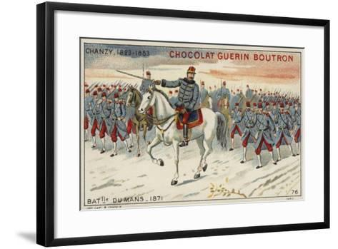 General Chanzy at the Battle of Le Mans, 1871--Framed Art Print