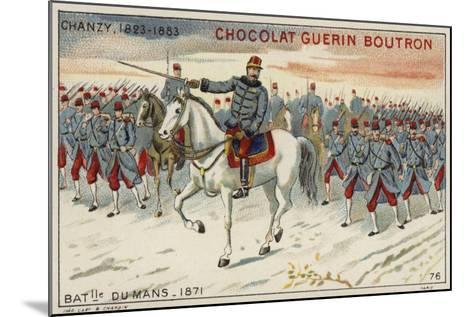 General Chanzy at the Battle of Le Mans, 1871--Mounted Giclee Print