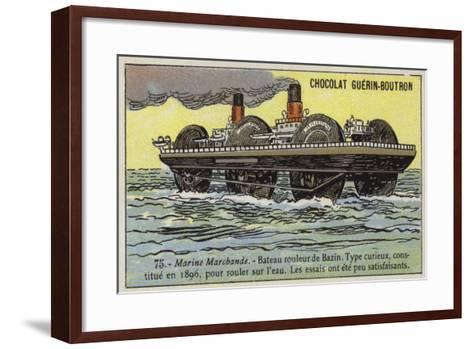 Roller Ship Designed by Ernest Bazin, 1896--Framed Art Print