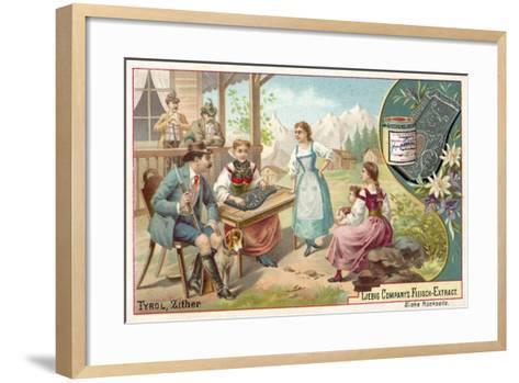 Zither, Tyrol--Framed Art Print