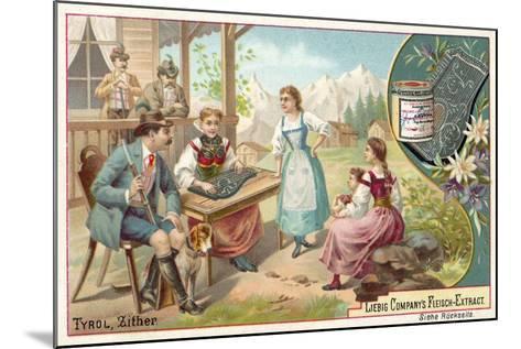 Zither, Tyrol--Mounted Giclee Print