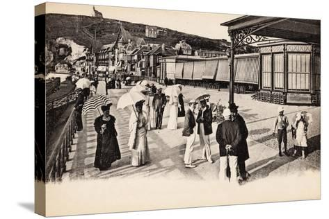 Terrasse Du Casino, Étretat, 1900--Stretched Canvas Print