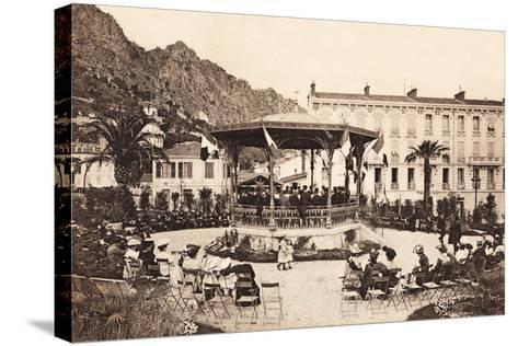 Bandstand, Beaulieu Sur Mer, 1911--Stretched Canvas Print