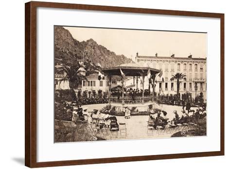 Bandstand, Beaulieu Sur Mer, 1911--Framed Art Print