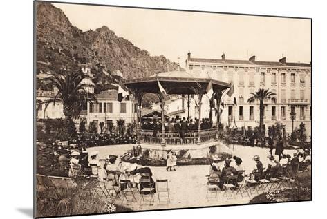 Bandstand, Beaulieu Sur Mer, 1911--Mounted Giclee Print
