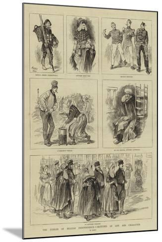 The Jubilee of Belgian Independence, Sketches of Life and Character--Mounted Giclee Print