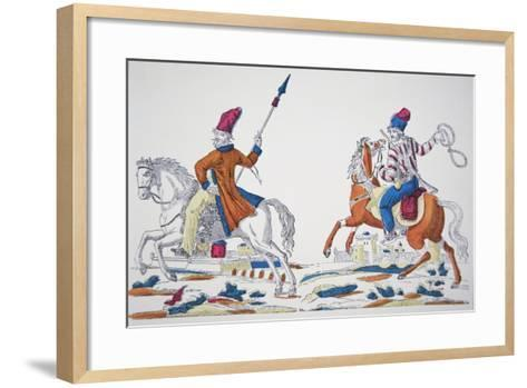 Russian Cossacks at the Time of Napoleon's Invasion of 1812--Framed Art Print