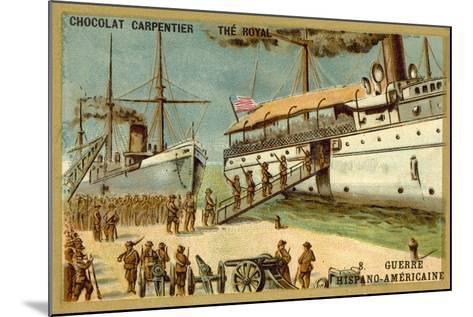 American Troops Boarding a Ship, Spanish-American War, 1898--Mounted Giclee Print