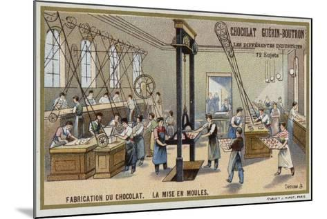Chocolate Manufacturing. Putting Chocolate into Moulds--Mounted Giclee Print