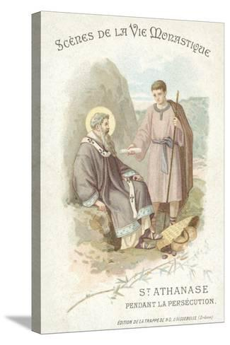 St Anathasius During the Persecution of Christians--Stretched Canvas Print