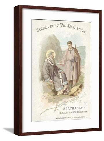 St Anathasius During the Persecution of Christians--Framed Art Print
