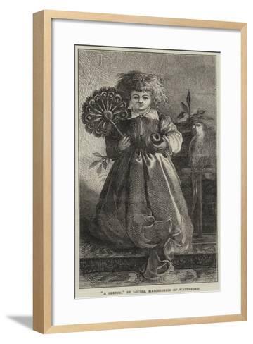 A Sketch--Framed Art Print