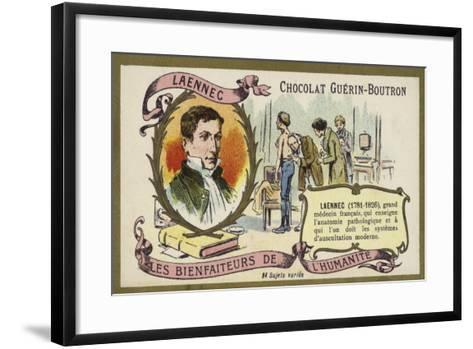 Rene Laennec, French Doctor and Inventor of the Stethoscope--Framed Art Print